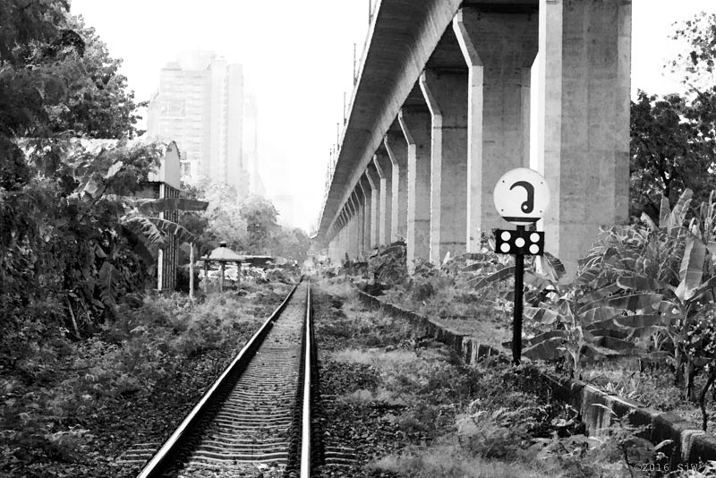Railway tracks in Bangkok