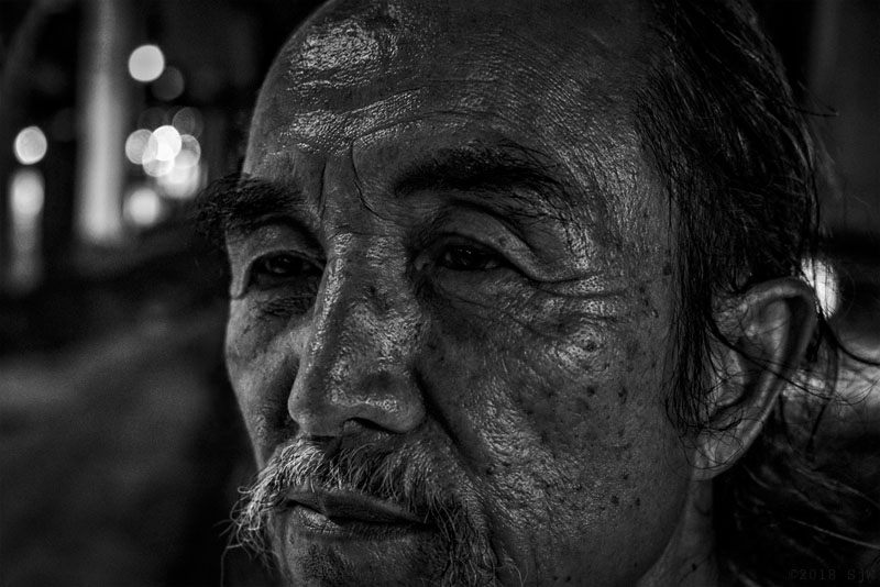 Portrait of a street vendor in Bangkok